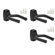TopStage Set of 3 Guitar Hangers Hook Holder Wall Mount Display - w/Mounting Hardware, Set of 3 - Easy to Wall Mount By Top Stage Ship from US