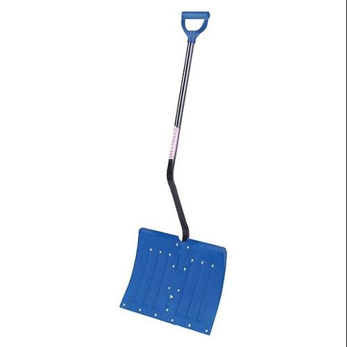 "Westward 12U488 Bent D-Grip 39""L Ergonomic Snow Shovel"