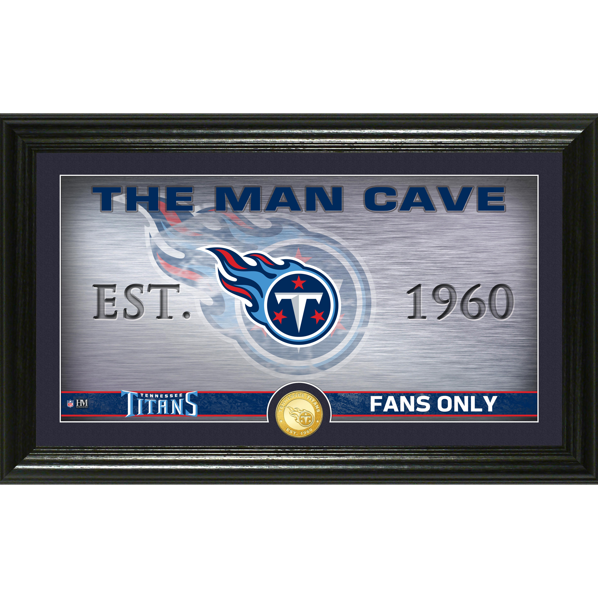 "Tennessee Titans Highland Mint 12"" x 20"" Man Cave Photo Mint - No Size"