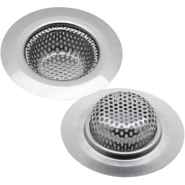 "Packs Of 2 X Metal Bath Sink Filter Strainer Hair Trap 3/"" 75mm"