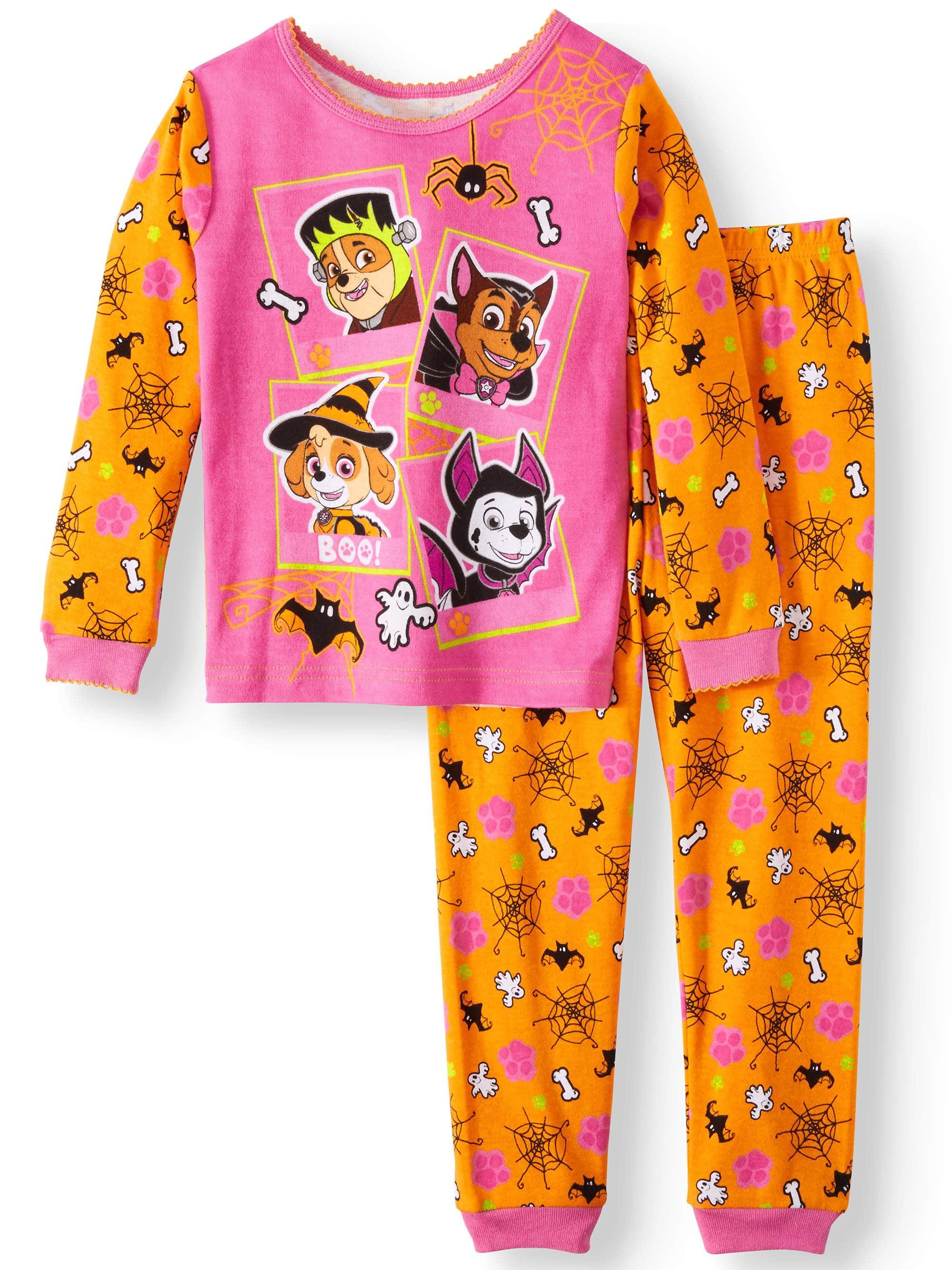 Halloween Glow-in-the-Dark Cotton Tight Fit Pajamas, 2-piece Set (Toddler Girls)