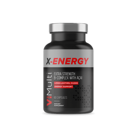 ViMulti X-Energy. Energy Support & Adrenal Fatigue Supplement. Reduce CFS with a Vitamin B Complex Comparable to Liquid Energy Drinks. Provides Natural Energy and Rated Best Vitamins for (Best Non Nicotine E Liquid)