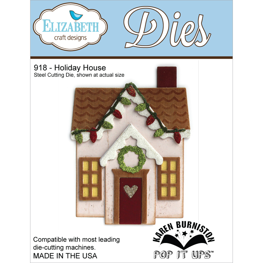 Elizabeth Craft Designs Metal Die-Holiday House Multi-Colored