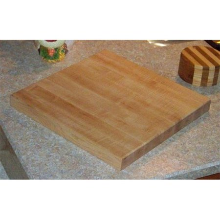 THE PUZZLE-MAN TOYS W-2770 Wooden Household Items - Cutting Board - 7 in. x 7 in. - 1-3/4 in. Thick Solid Hard Maple - End Grain (Best Oil For Wooden Chopping Board)