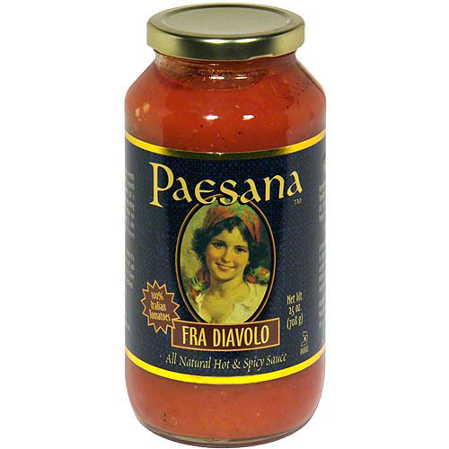 ***Discontinued by Kehe***Paesana Fra Diavolo All Natural Hot & Spicy Sauce 25  oz (Pack of 6), 25 oz (Pack of 6)