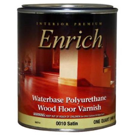 0010Enrich QT Satin Water Base Varnish and Floor Finish Only One
