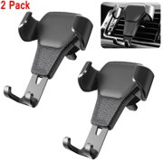 2 Pack Universal 360 Degree Rotation Auto-Clamping Gravity Air Vent Car Mount Holder Cradle for Cell Phone Smartphone
