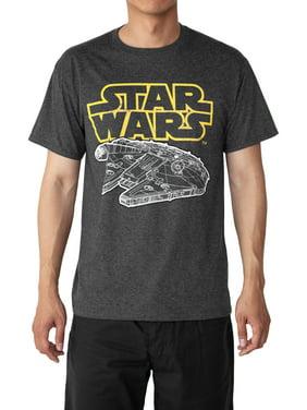 182fed0aa72 Product Image Star Wars Men's Millennium Falcon Gray T-Shirt