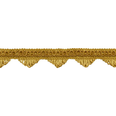 Decorative Gold Scallop Fringe Gimp Braid, 1.5 Inch, Style# SF0150 Color: C4 (Sold by The