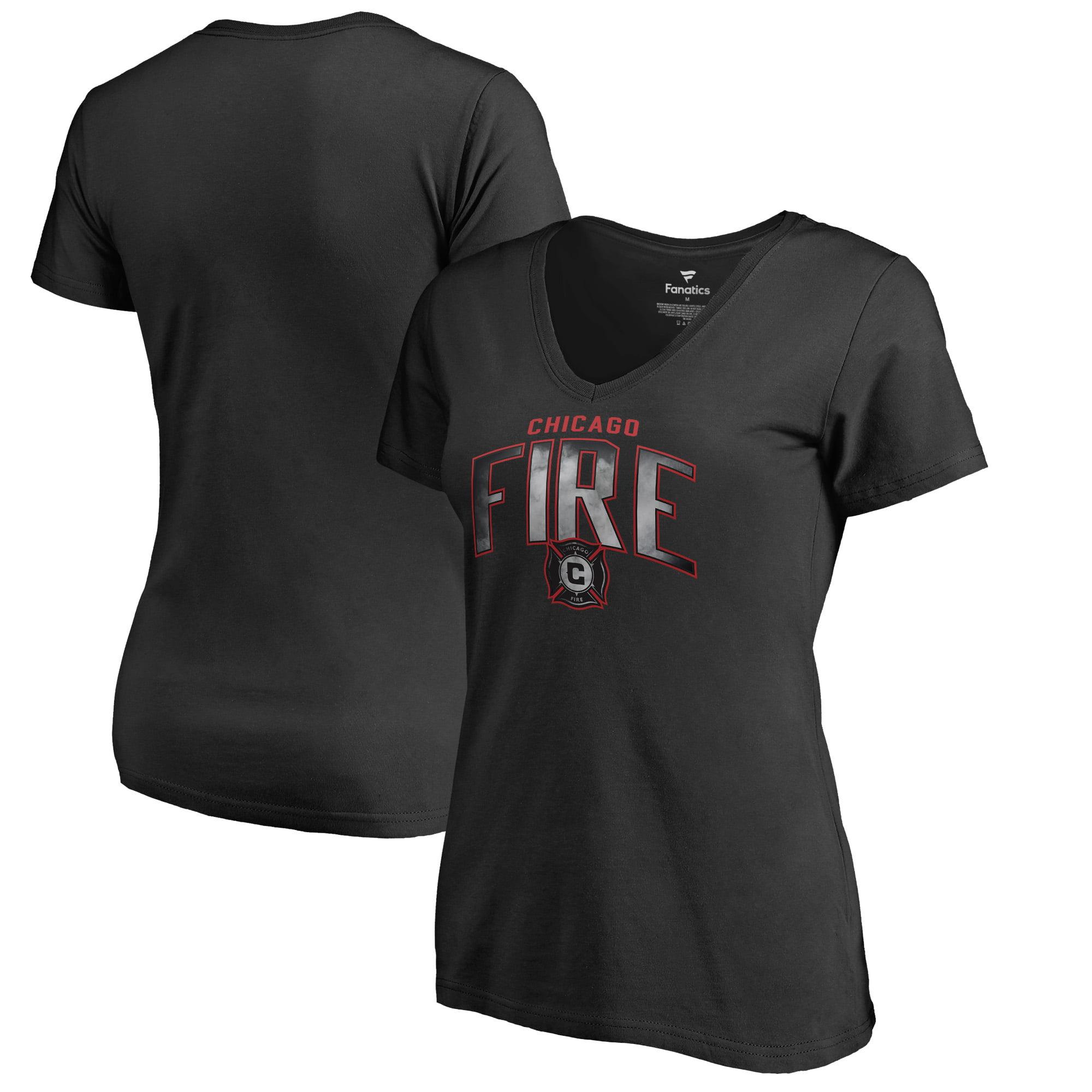 Chicago Fire Fanatics Branded Women's Arch Smoke V-Neck T-Shirt - Black