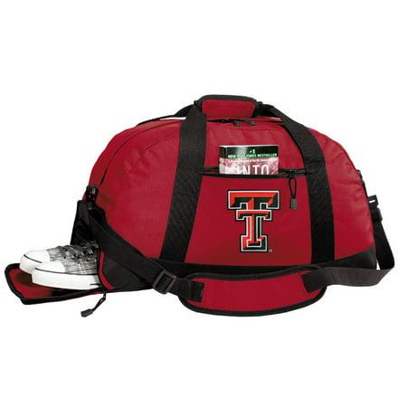 7eba83c99450 Broad Bay Texas Tech Gym Bags Texas Tech Duffle Bag WITH SHOE POCKET! -  Walmart.com