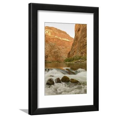 Reflections from Morning Sun. Colorado River. Grand Canyon. Arizona Framed Print Wall Art By Tom Norring Grand Canyon Arizona Framed