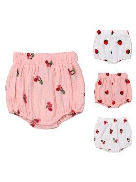 Newborn Baby Girls Floral Panties Bottoms Toddler Bloomer Diaper Cover Briefs