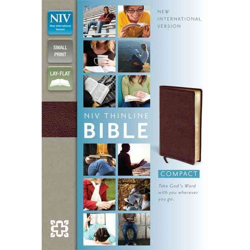 Holy Bible: New International Version Burgundy Bonded Leather Thinline