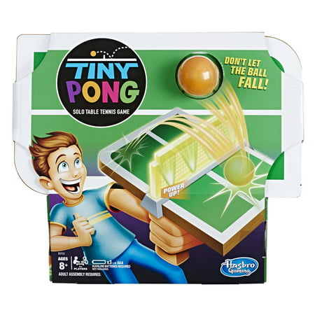 Tiny Pong Solo Table Tennis Kids Electronic Handheld Game Ages 8 and