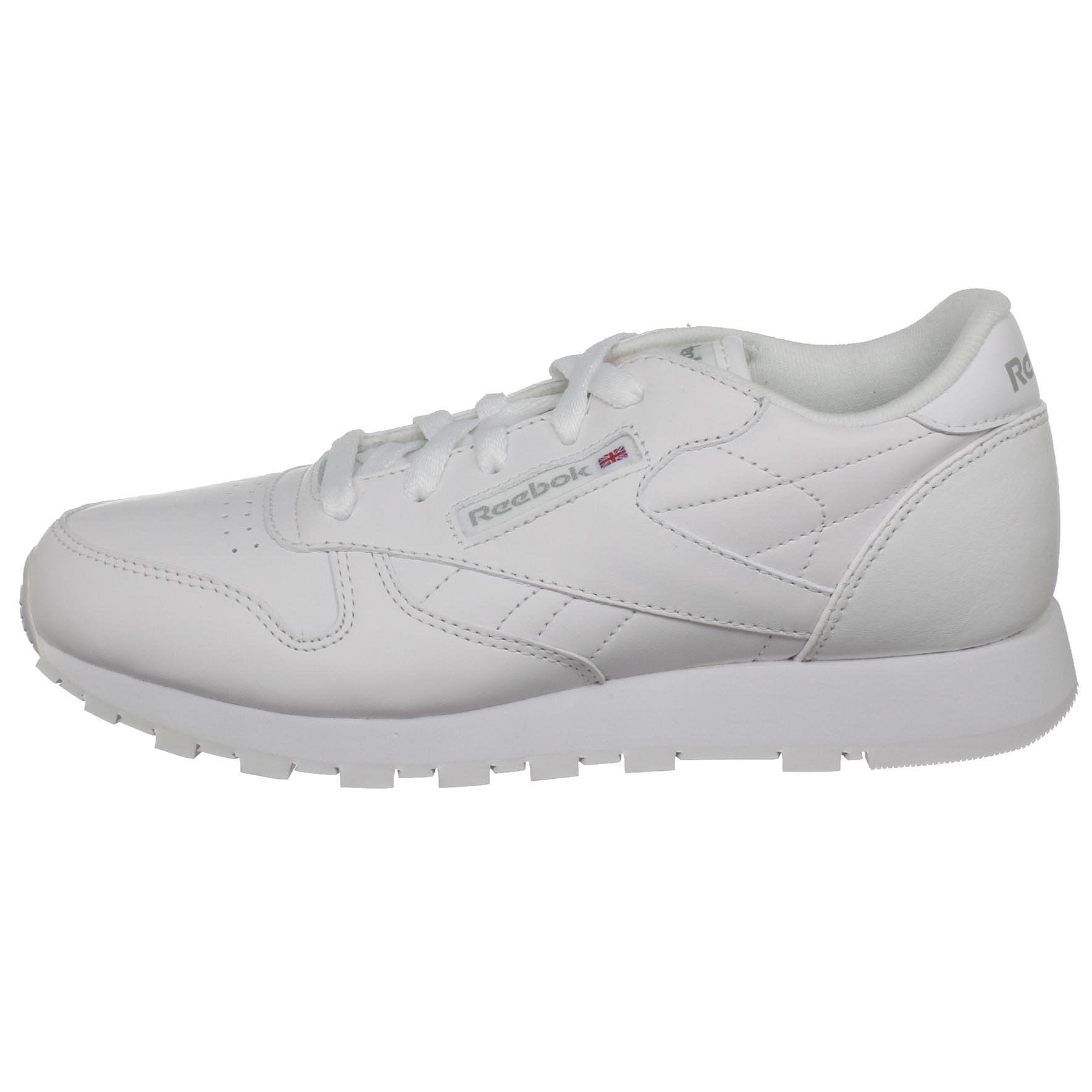 518bd4c0cf0 Reebok - Reebok 50150  Classic Leather Big Kid White White Sneaker (7 M US  Big Kid) - Walmart.com