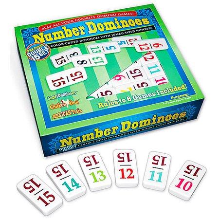 Number Dominoes, Premium Double-15 Set