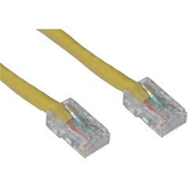50 Foot Cat5e Yellow Ethernet Patch Cable Bootless