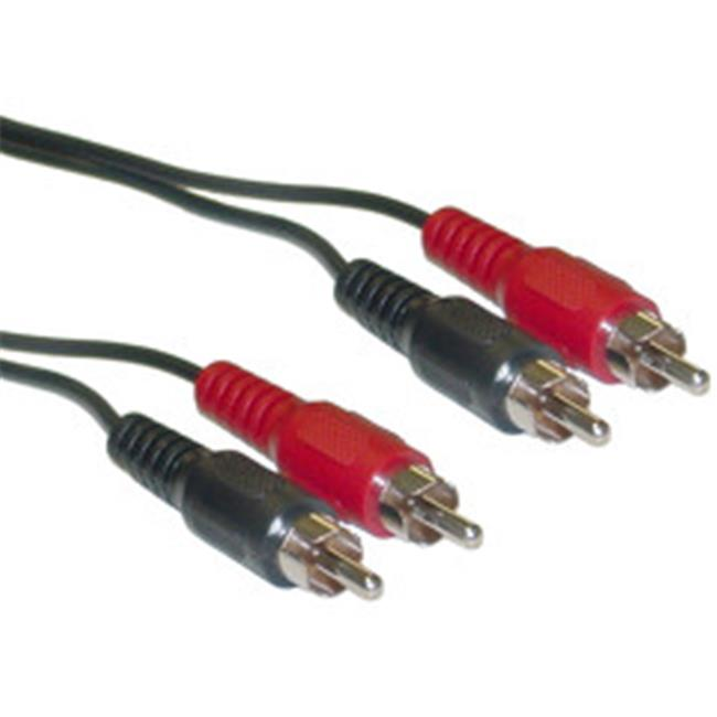 CableWholesale 10R1-02125 RCA Stereo Audio Cable  Dual RCA Male  2 channel (Right and Left)  25 foot