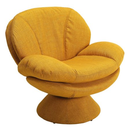 Superb Pemberly Row Swivel Accent Chair In Yellow Pabps2019 Chair Design Images Pabps2019Com