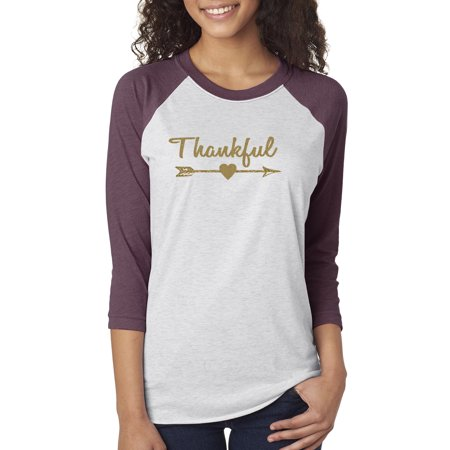Custom Apparel R Us Thankful Christmas Shirt Women
