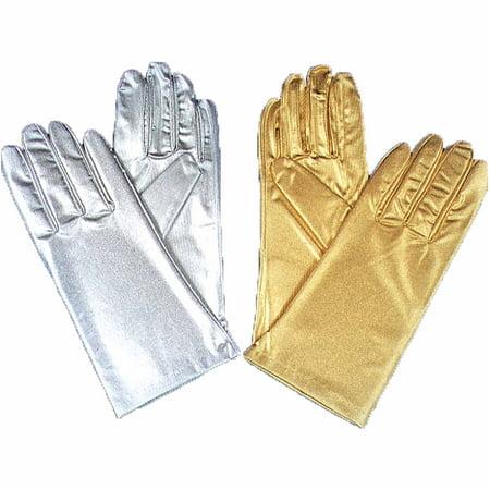 Metallic Gloves Adult Halloween - Metallic Gloves