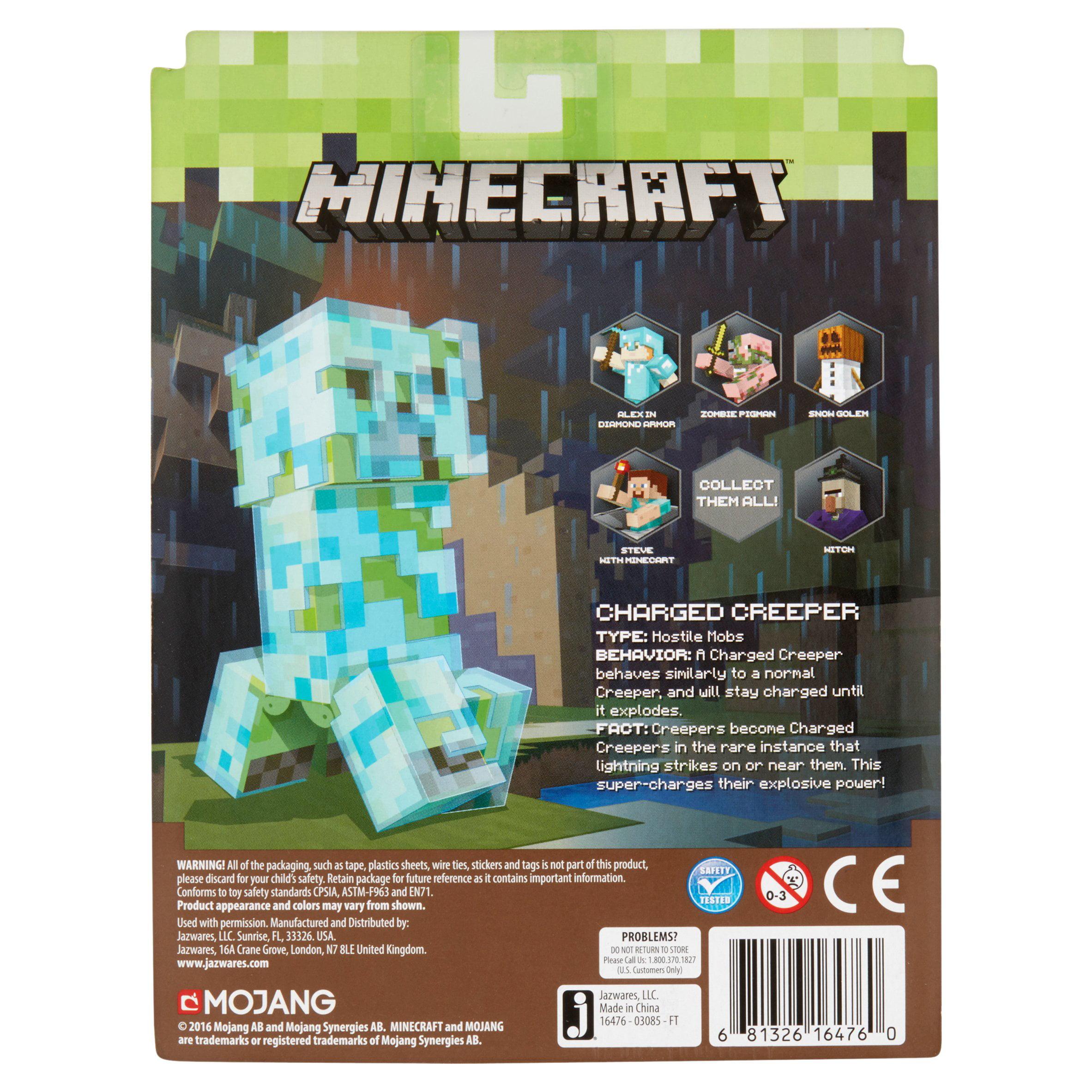 Jazwares Minecraft Series 3 Charged Creeper Figure 6+