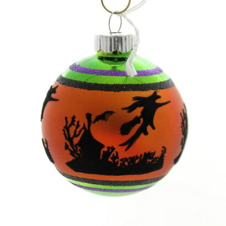Shiny Brite Halloween (Shiny Brite HALLOWEEN SIGNATURE FLOCKED. Glass Ball)
