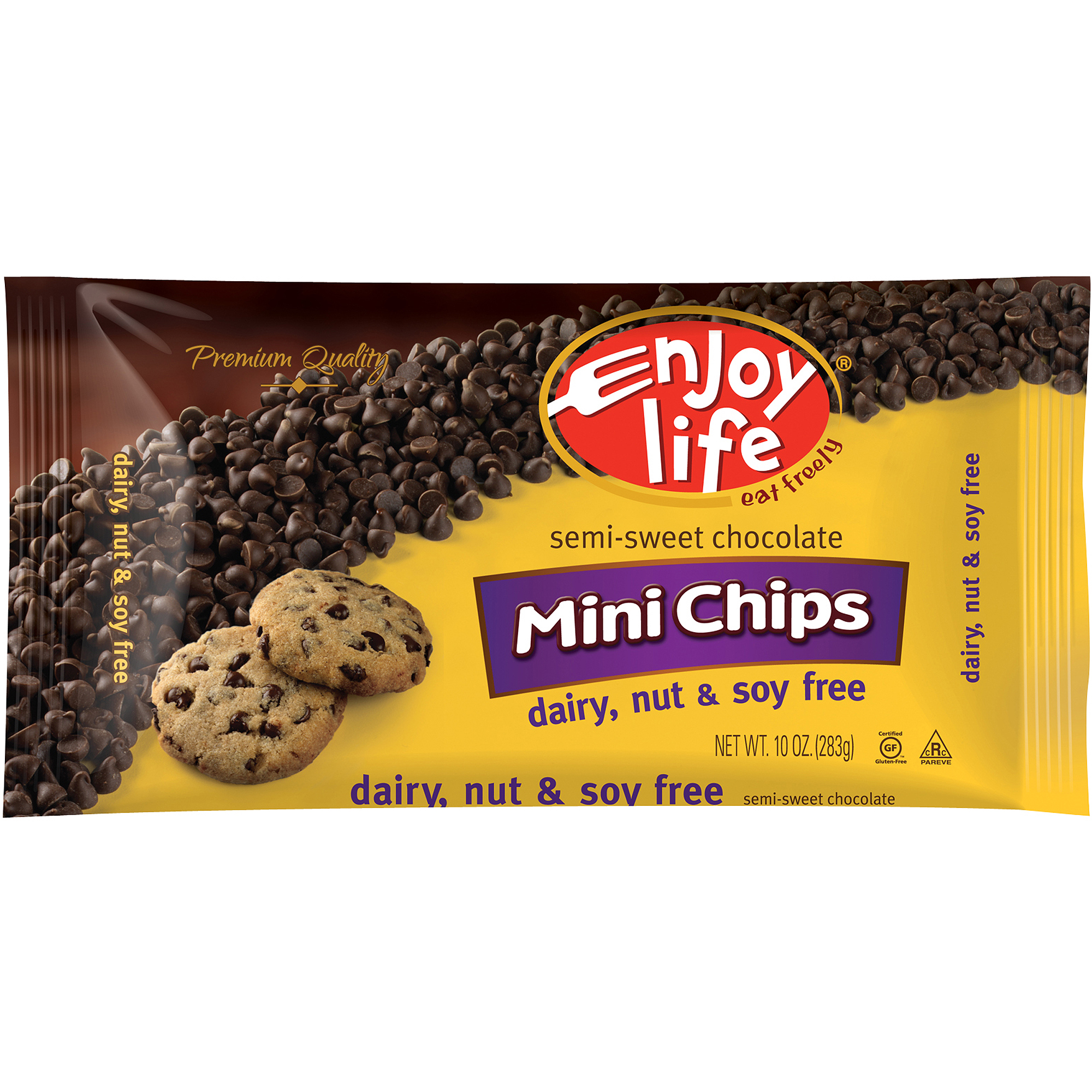 Enjoy Life Semi-Sweet Mini Chocolate Chips, 10 oz (Pack of 12)