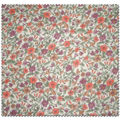 Floral Lily Print Fabric by the Yard