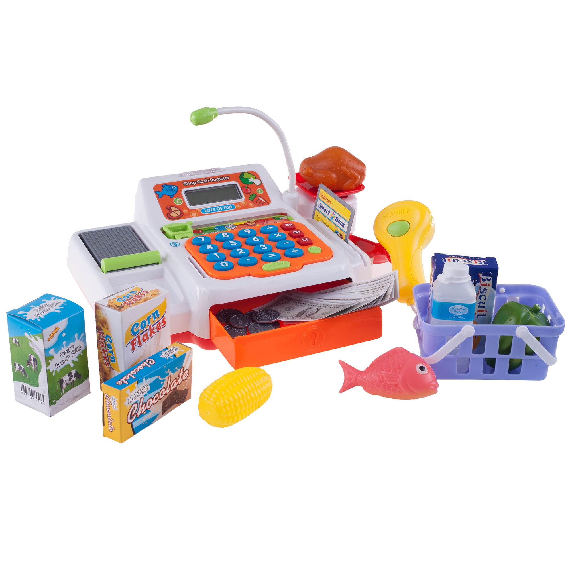 Pretend Electronic Cash Register w/ Real Sounds & Functions by Hey! Play!