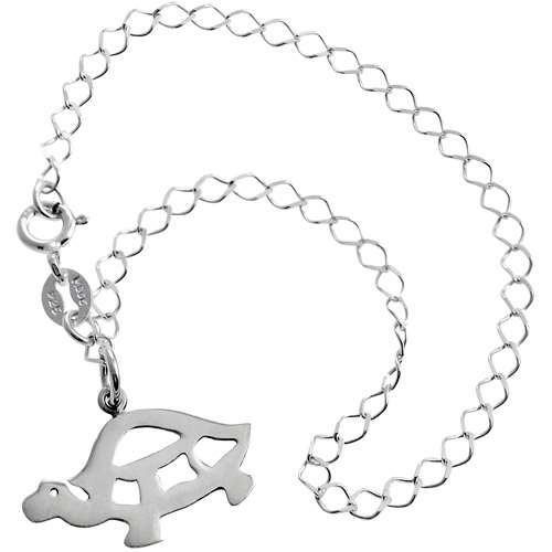 "Brinley Co Sterling Silver Turtle Bracelet, 7"""