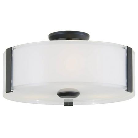 Flush Mounts 3 Light With Graphite Tone Finish Medium Base Bulbs 5 inch 180 Watts