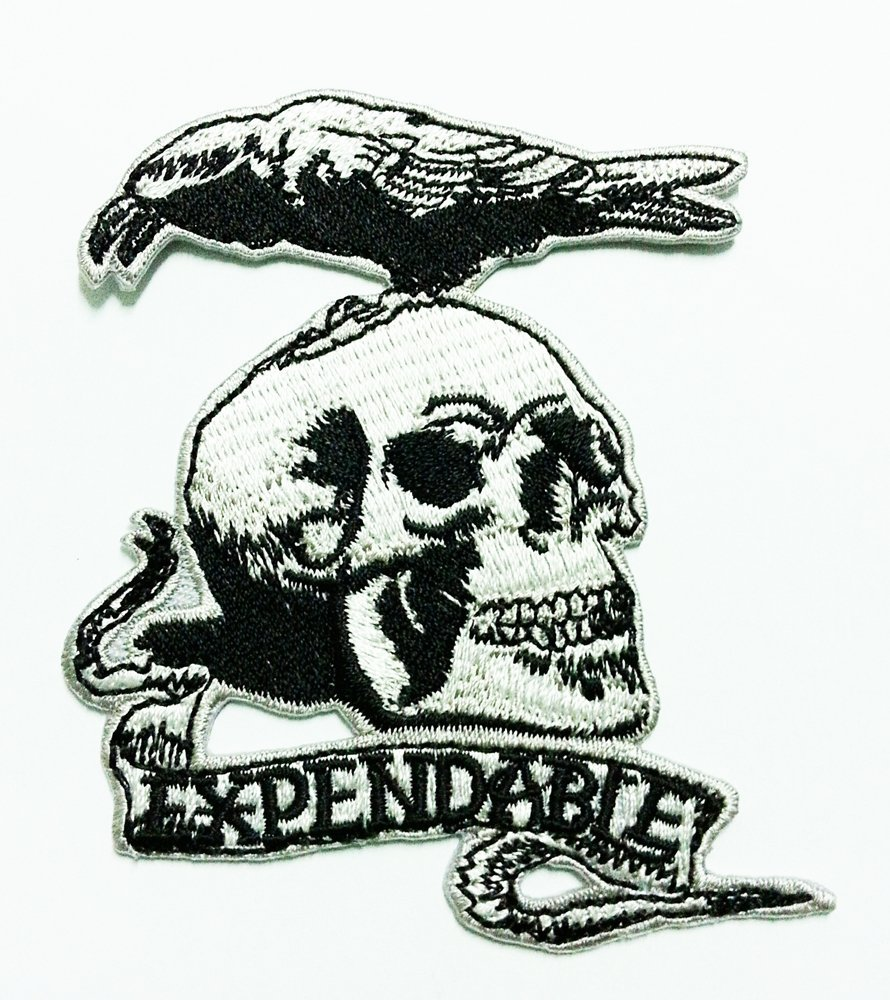 The Expendable Movie 8cm X 9.5cm logo Iron On Embroidered Patch