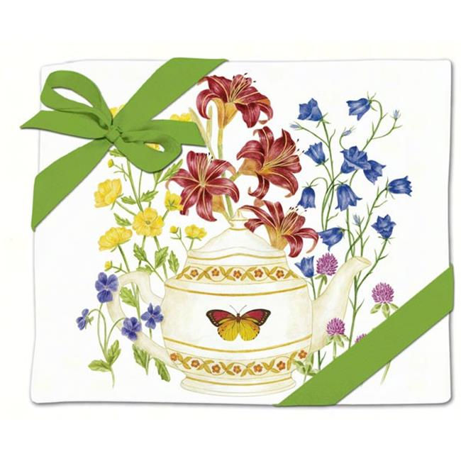 Alice's Cottage AC34456 Butterfly Teapot Flour Sack Towel (Set of 2)