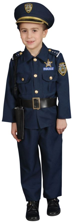 Police Officer Deluxe Toddler Costume by Dress Up America