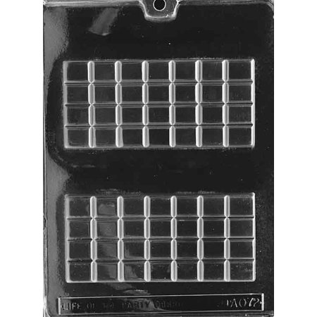 Break Apart Candy Bar Chocolate Mold - AO072 - Includes Melting & Chocolate Molding - Party Apart