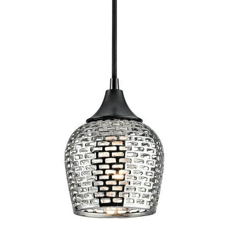 Kichler 43489Slv Annata 1-Bulb Indoor Mini Pendant