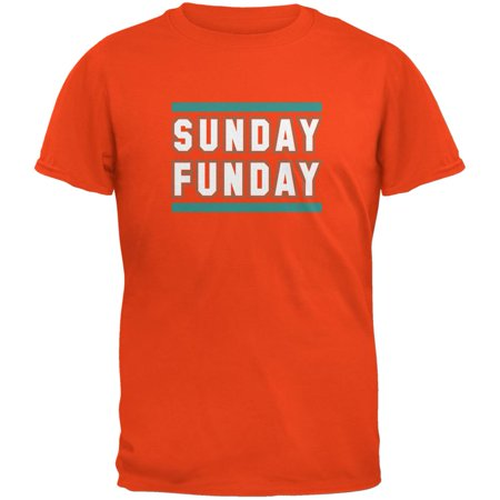 Sunday Funday Miami Orange Adult T-Shirt