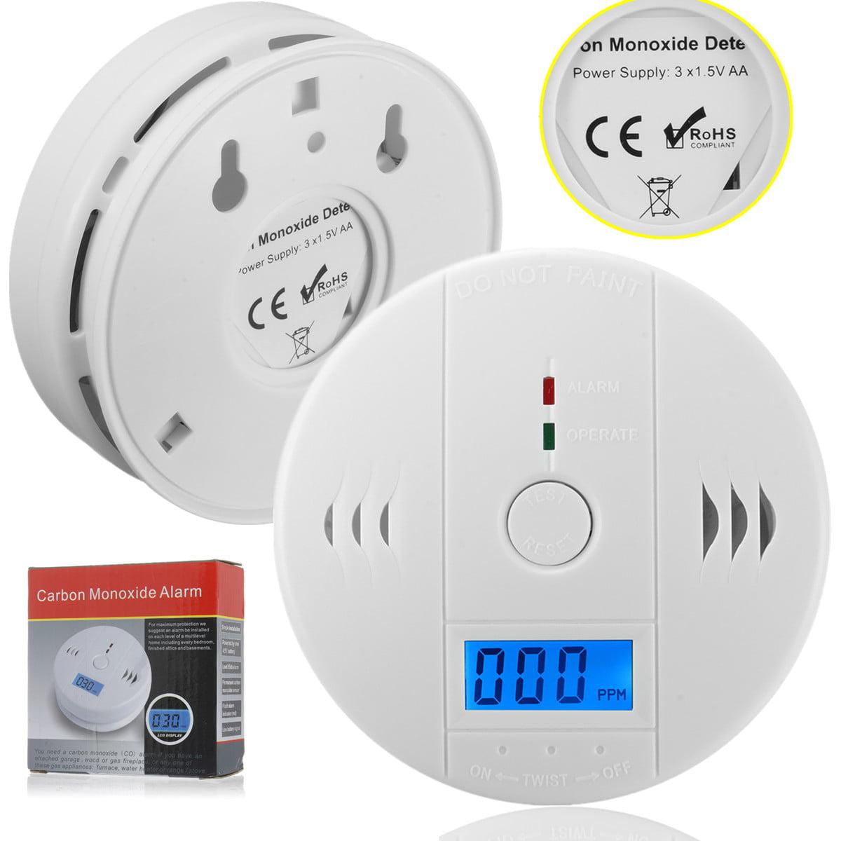 1-50 Pcs Fire CO Carbon Monoxide Poisoning Gas Detecter Digital LCD Display Carbon Monoxide Alarm Sensor Detector Tester Power Detection Equipment Alarm Clock Loud Warning CE RoHS