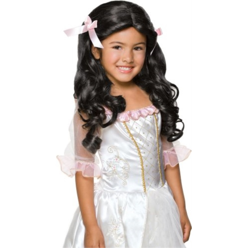 Raven Black Rubies Sophisticated Princess Childs Costume Wig