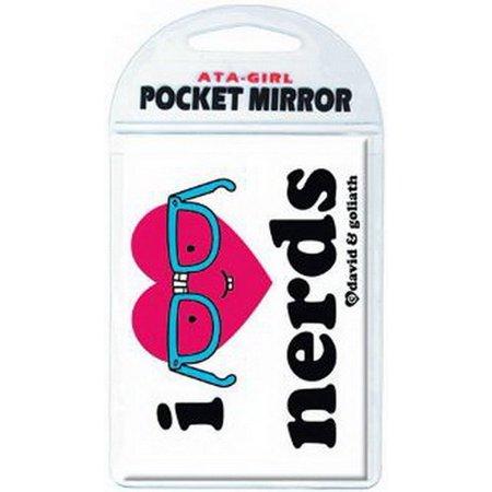 David and Goliath I Heart Nerds Pocket Mirror 50711 - Nerd With Pocket Protector