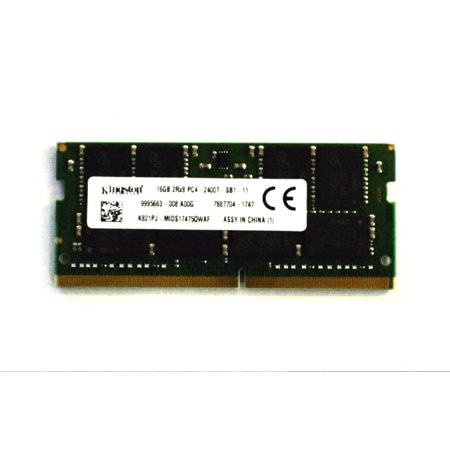 KINGSTON K821PJ-MIDS17475QWAF 16GB DDR4 PC4-19200, 2RX8 PC4-2400T-SB1-11, 260 PIN SODIMM LAPTOP RAM MEMORY MODULE FOR DELL
