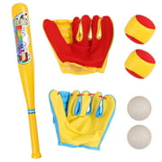 Vokodo 7 Piece Baseball Set Includes 21 Inch Bat 2 Mitts And 4 Balls Great Practice Game For Young Kids To Improve Batting Skills Active Play Sports Toys Perfect Gift For Children Boys Girls Toddlers