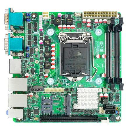 Jetway NF693T-H110 mini ITX motherboard, 6th Generation Intel Core i7/i5/i3 CPU, 6 x Serial Ports (4-External, 2-Internal), 2 Displays DP, HDMI,eDP, Nuvoton TPM IC