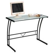 LumiSource Sigma Glasstop Computer Desk, Multiple Colors