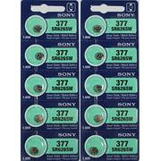 10 SONY 377 SR626SW Silver Oxide Watch Batteries 1.55V 29mAh Low Drain