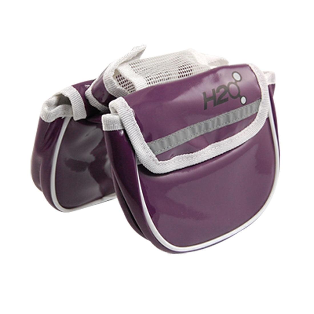 Unique Bargains Bicycle Rack Front Tube Nylon Lining Pannier Bag Purple
