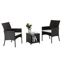 3-Piece SalonMore Patio Conversation Chat Set with Cushions