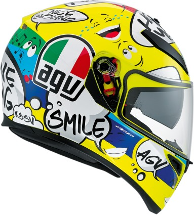 AGV K3 SV Groovy Motorcycle Helmet Yellow/Black/Blue